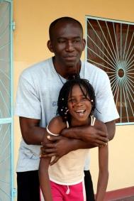 Vincent, nigeriano. Colaborador del centro con los más pequeños y futuro Padre / Moncho Torres